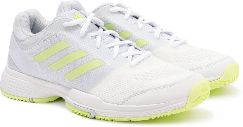 newest collection cd59c d1788 ADIDAS BARRICADE CLUB W Tennis Shoes For Women (White, Green)