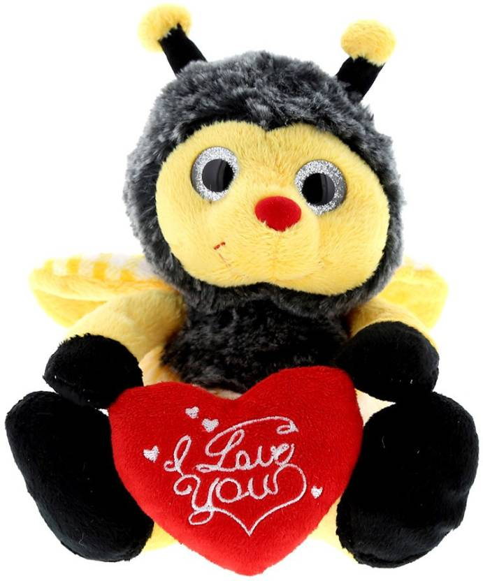 7081e753185d17 Dollibu Sitting Bumble Bee I Love You Valentines Stuffed Animal - Heart  Message 7 Inch Super Soft Plush - 7 inch (Multicolor)