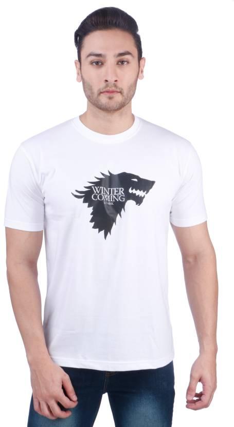 60c0c5d42 Nebraska Printed Men's Round Neck White T-Shirt - Buy Nebraska Printed  Men's Round Neck White T-Shirt Online at Best Prices in India   Flipkart.com