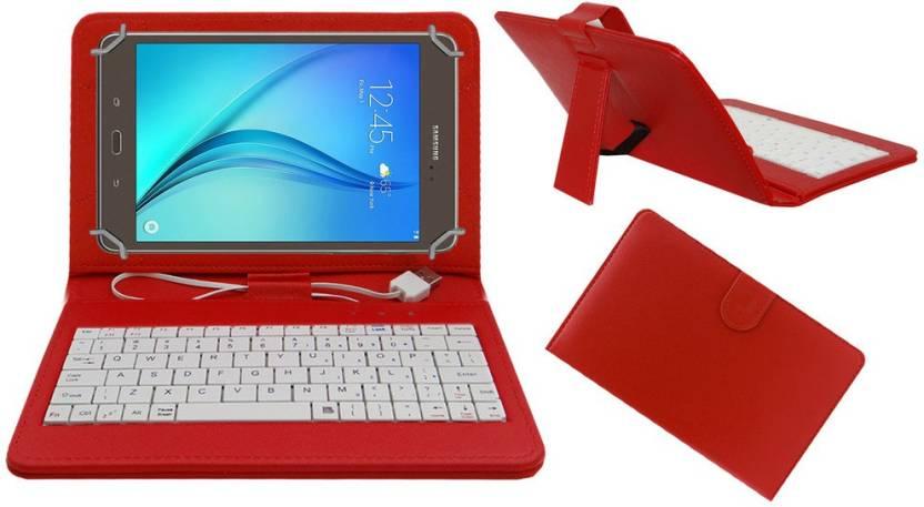 ACM Keyboard Case for Samsung Galaxy Tab A T355y Red
