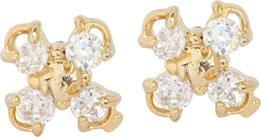 07f864586 Flipkart.com - Buy Touchstone Touchstone Brass base gold plated earrings  Brass Stud Earring Online at Best Prices in India