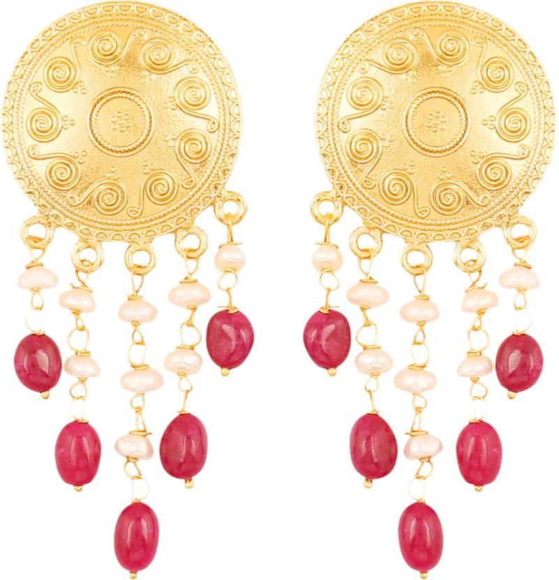 07c59d16d Touchstone Touchstone Indian Bollywood Ethnic Style Carving Work Round  Shape Bahubali Inspired Designer Jewelry Dangling Earrings