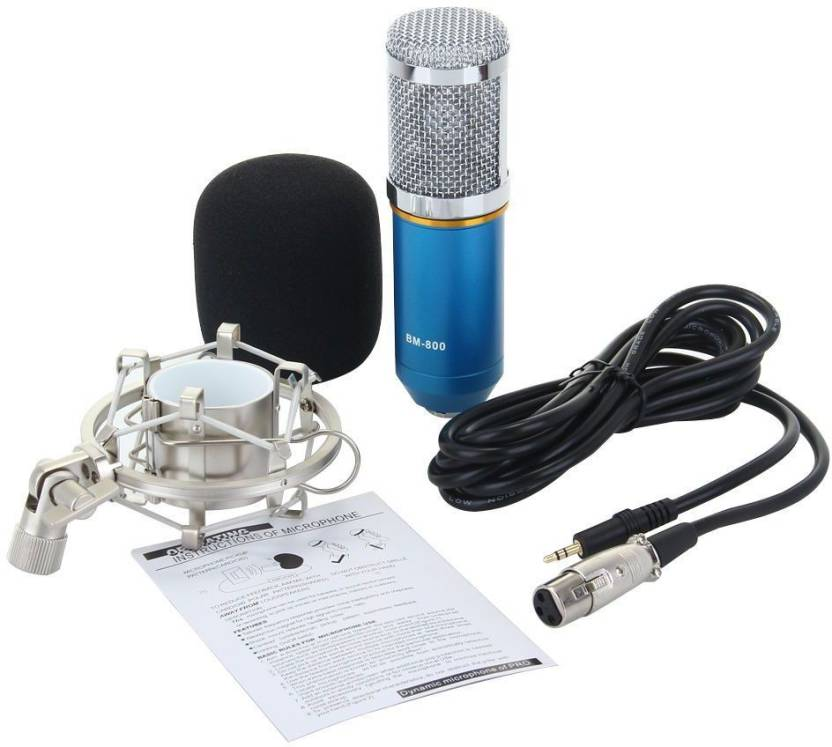 Microphones New Fashion For Bm 800 Microphone 48v Phantom Power Supply With Adapter Xlr Audio Cable For Condenser Micro Karaoke Microphone Mikrofon