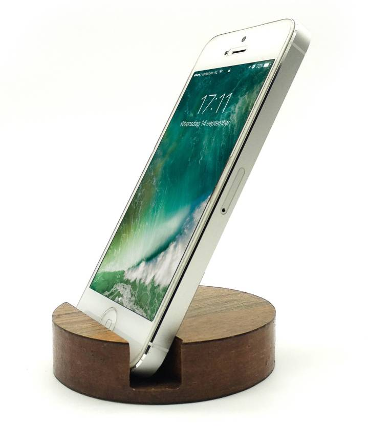 Jaamsoroyals Round Design Wooden Mobile Phone Stand Mobile