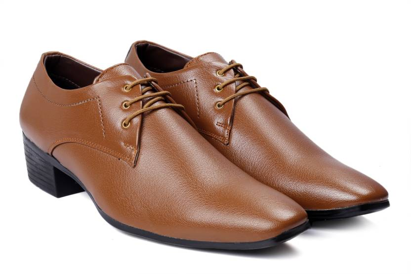 45d2a2790e14cb Bxxy Men's Tan Colour Height Increasing Formal Lace-up Derby Shoes Derby  For Men (Tan)