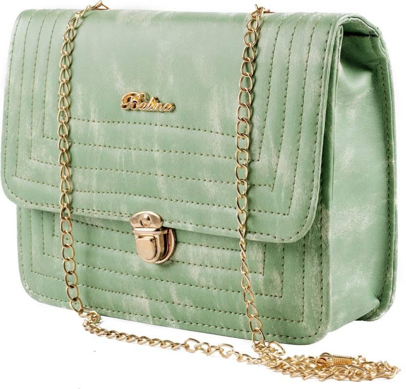 48a8d0a2cb0 Regalia Women Green Leatherette Sling Bag Sea Green - Price in India ...