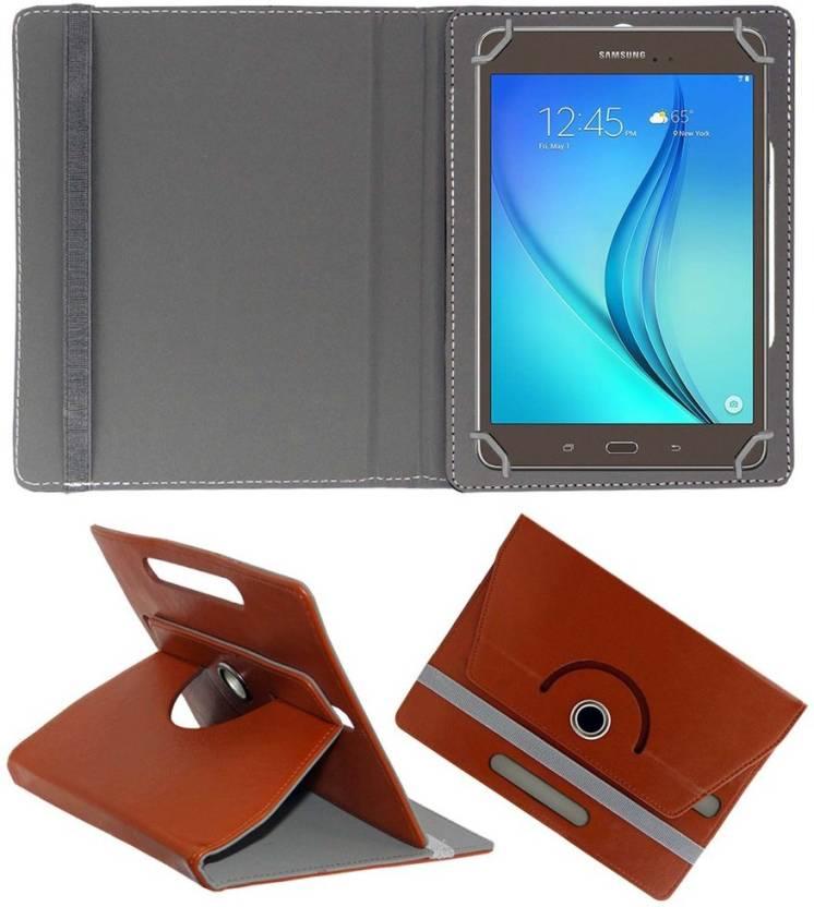 ACM Book Cover for Samsung Galaxy Tab A T355y Brown
