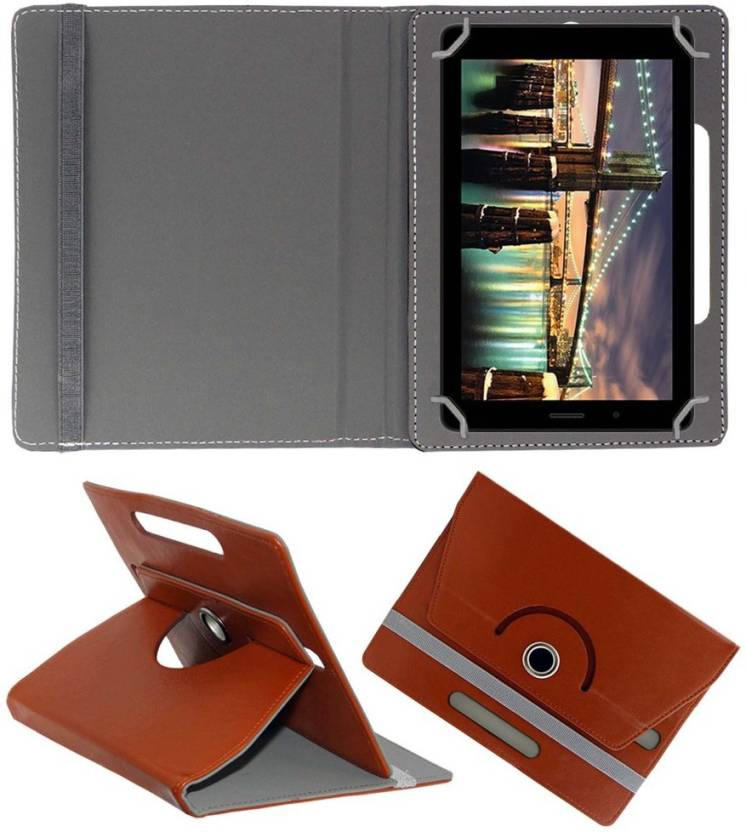 ACM Book Cover for Micromax Canvas Tab P70221 Brown