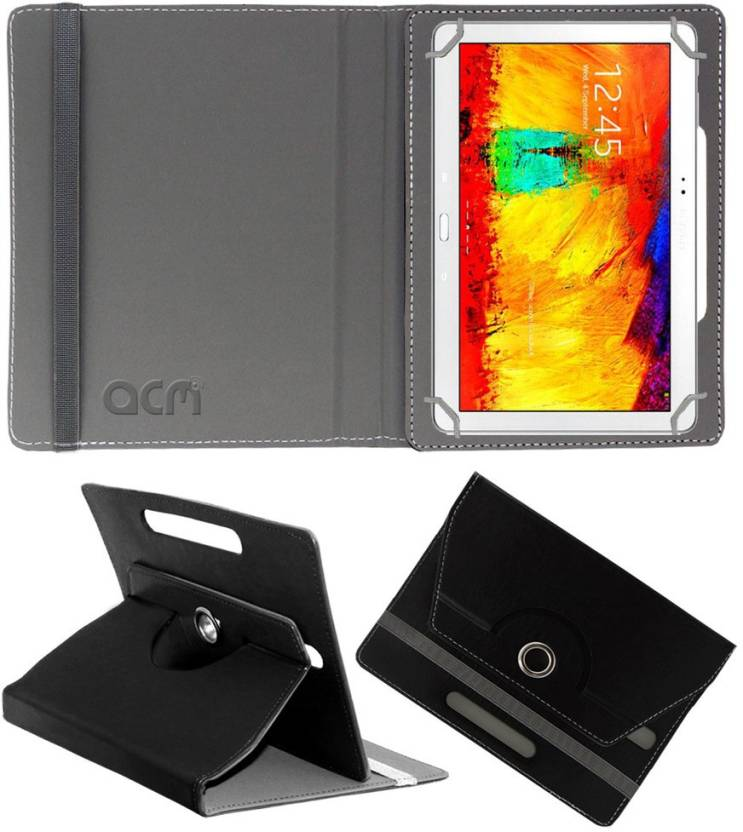 ACM Flip Cover for Samsung Galaxy Note 10.1 P601 Black, Cases with Holder