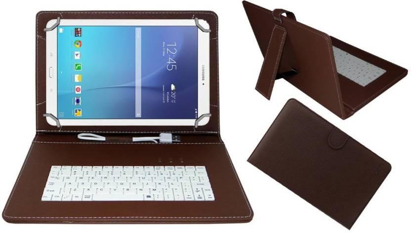 ACM Keyboard Case for Samsung Galaxy Tab E 9.6 inch Brown