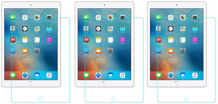 ACM Tempered Glass Guard for Apple Ipad 9.7 2017 A1823 Pack of 3