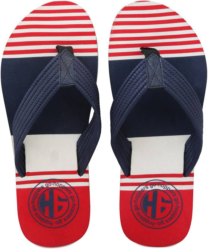 d53dd6e02 Hoppers Men s Striped Thong- Style Flip- Flops