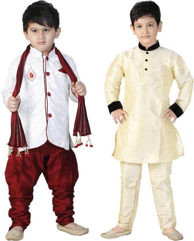 ffd09dbc1 FTC FASHIONS Boys Festive & Party Kurta and Pyjama Set (Multicolor Pack of  2)