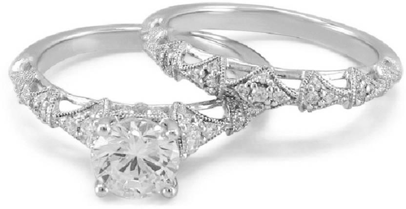 Vorra Fashion Women S Engagement Ring Bridal Set In White Gold
