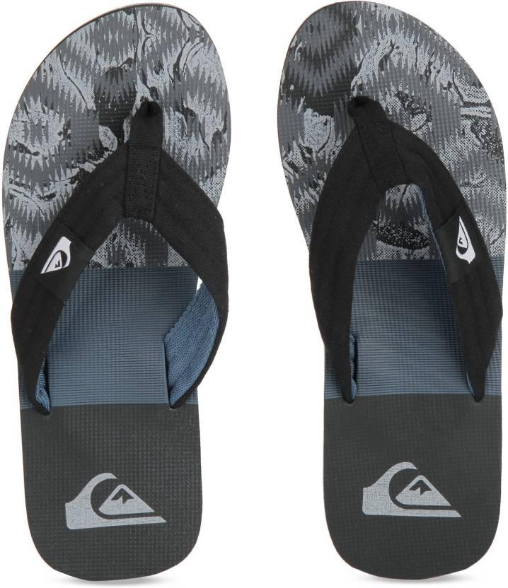 30fb0a102 Quiksilver Slippers - Buy BLACK GREY BLUE Color Quiksilver Slippers Online  at Best Price - Shop Online for Footwears in India