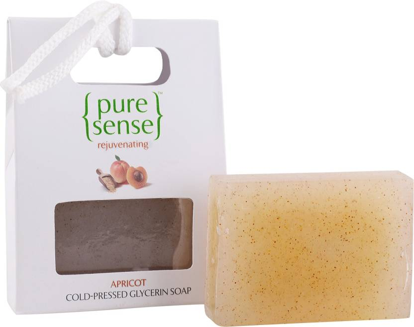 PureSense Apricot Cold- Pressed Glycerin Soap, 100 gm- Sulphate Free and  Paraben Free