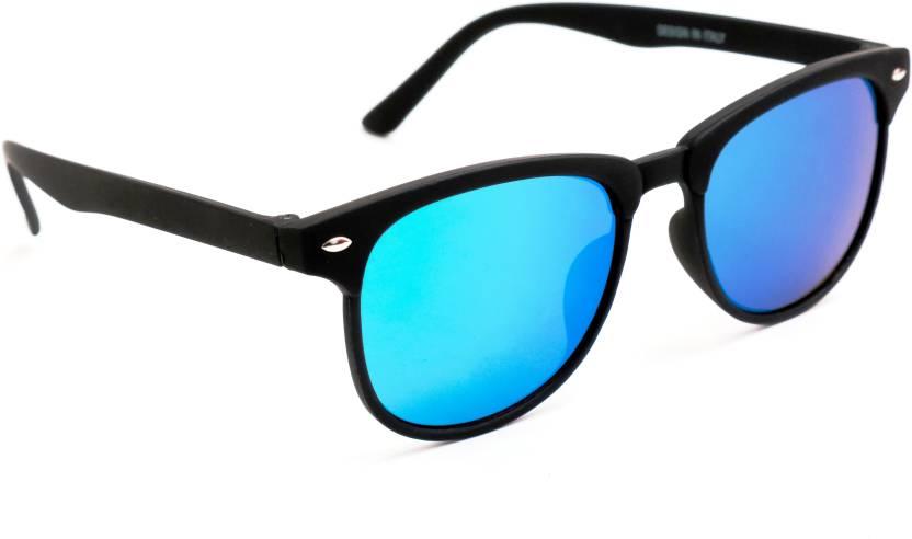57192ce082 Buy TheWhoop Wayfarer Sunglasses Blue For Men   Women Online   Best ...