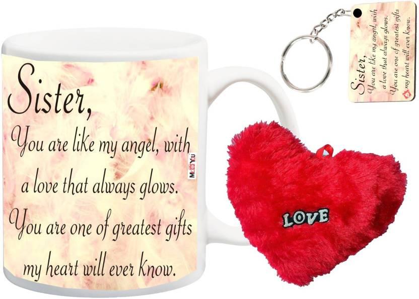 MEYOU Return Gifts For Sister Rakhi Rakshabandhan Birthday Anniversary IZ18NSMRHK 079 Mug Soft Toy