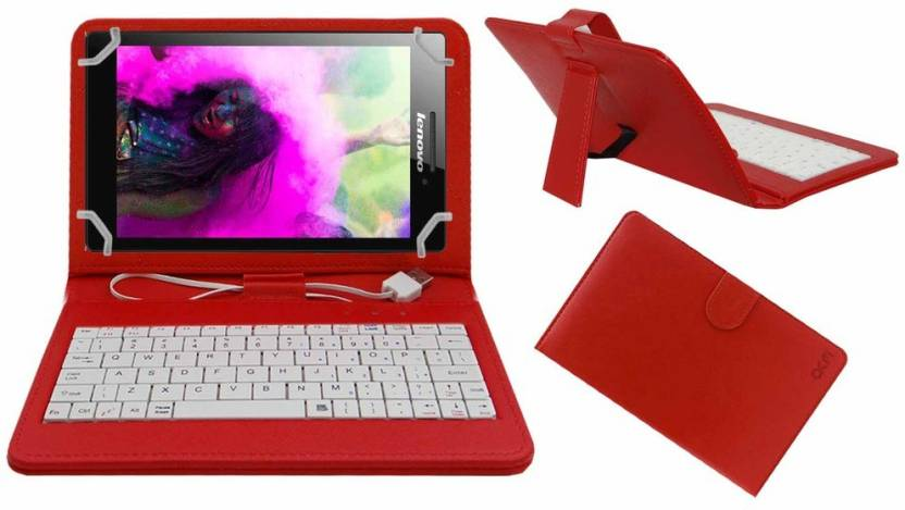 ACM Keyboard Case for Lenovo Tab 3 A710f Red, Cases with Holder