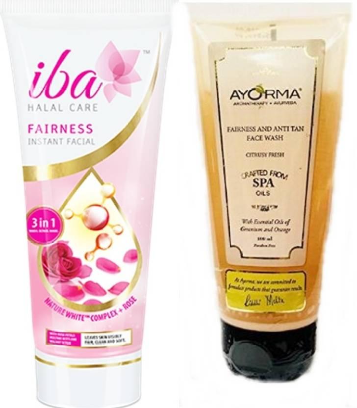 iba halal citrus fresh face wash and instant facial combo