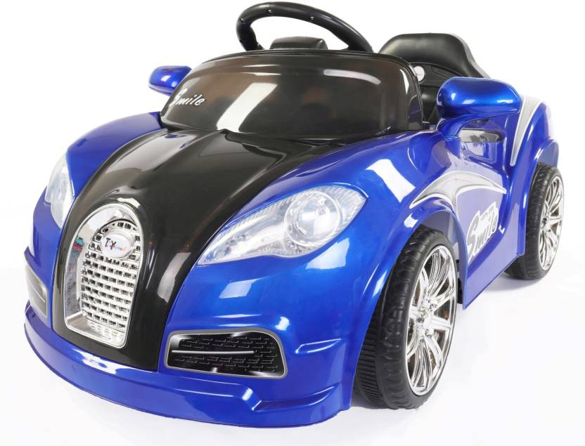 Toy House Veyron Sport Boomer Rechargeable Car Battery Operated Ride On Blue