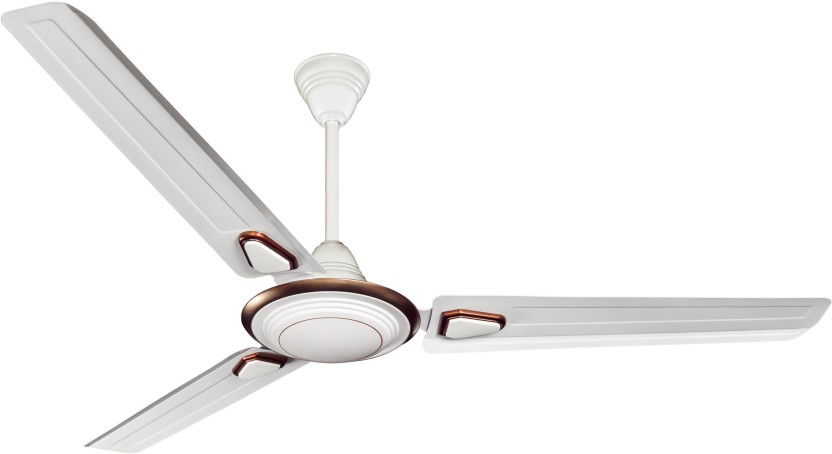 Crompton Super Briz Deco High Speed Ceiling Fan Birken White 3 Blade Ceiling  Fan