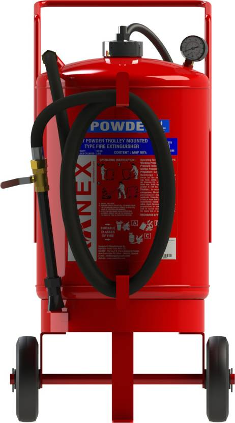 Map 90 Fire Extinguisher.Kanex Fire Abc Dry Powder Map 90 Trolly Mounted 50 Kg Fire