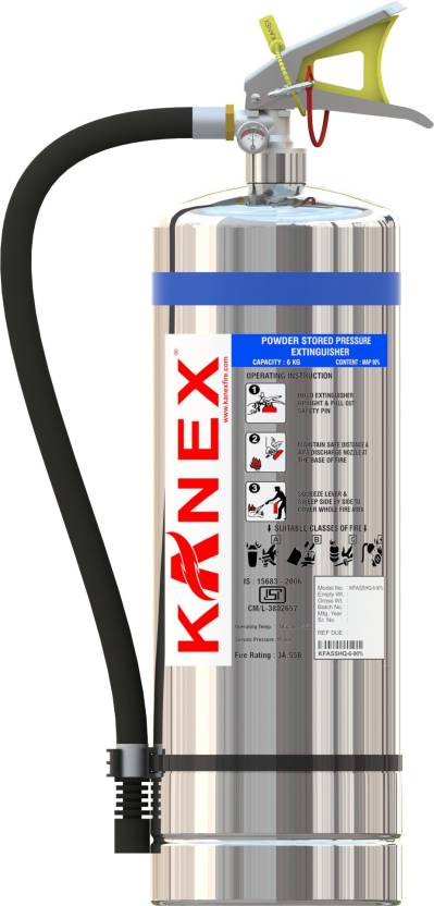 Map 90 Fire Extinguisher.Kanex Fire Abc Dry Powder Map 90 Stored Pressure Ss Body 6 Kg 3a