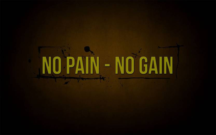 No Pain No Gain Motivational Posters For Office And Home Decor