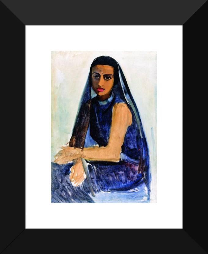 260d2e421113 Self-Portrait Ethnic by Amrita Sher-Gil -