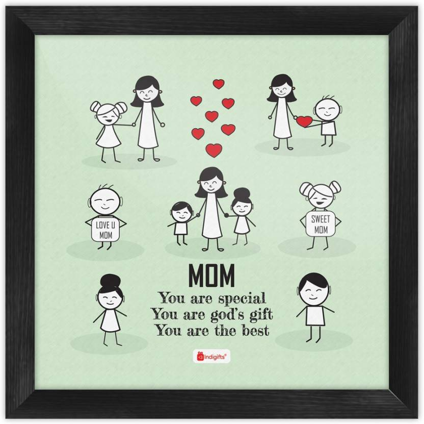 Mothers Day Gifts Happy Birthday For Mom Mummy Gift Grandmom Posters Wall Decoration Home Decor Parents Paper Print 8 Inch X