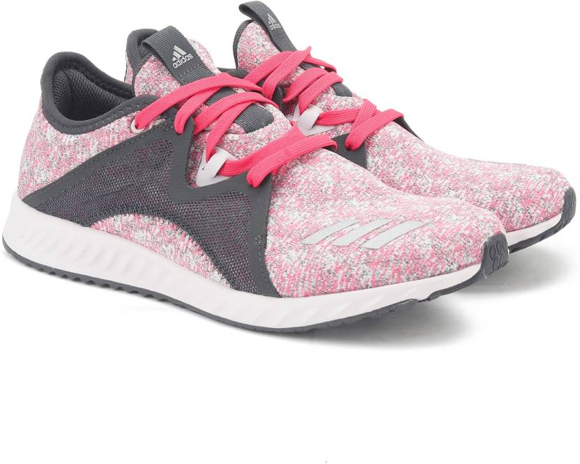 separation shoes 6c8fd 162ca ADIDAS EDGE LUX 2 W Running Shoes For Women (Grey, Pink)