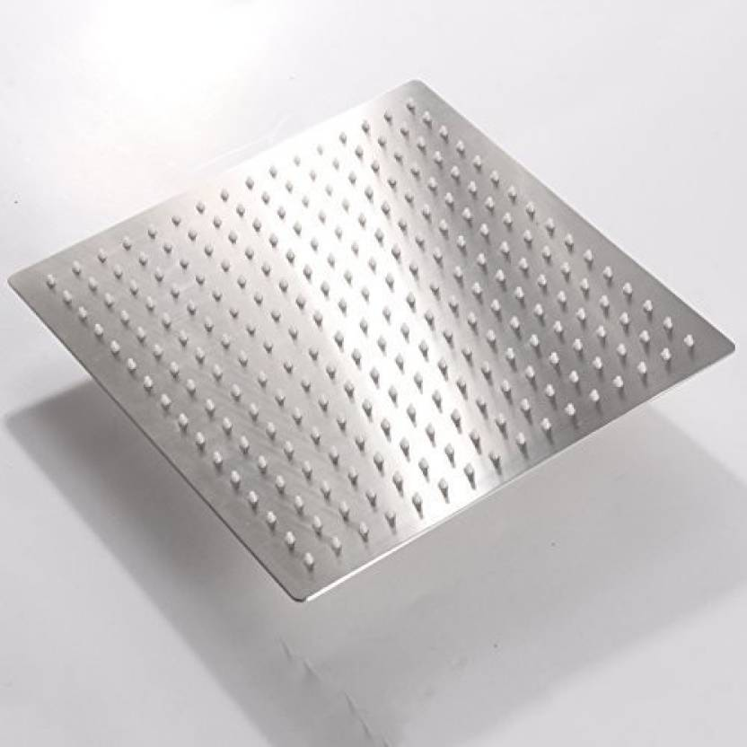 pesca r n ultra slim stainless steel square shower head 12x12 inch
