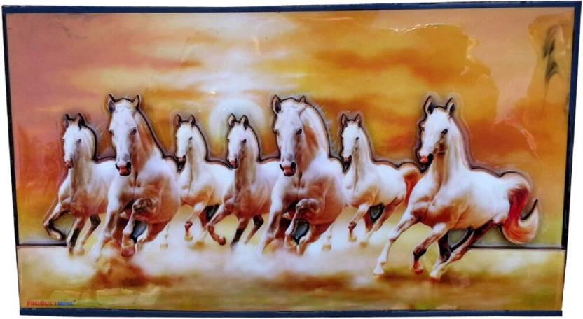 Productmine Home Decor Running 7 Horses With Vastu Sunrise Wall