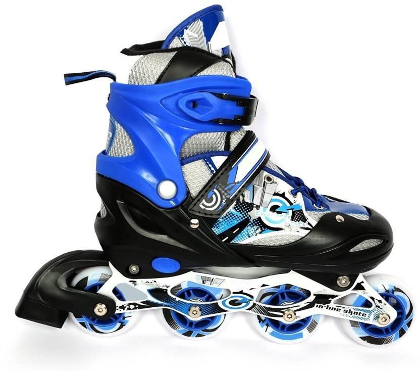 e883f970bb0 Krazy Fitness Sterling PRO Adjustable In-line Skates - Size 4-6 UK  (Multicolor)