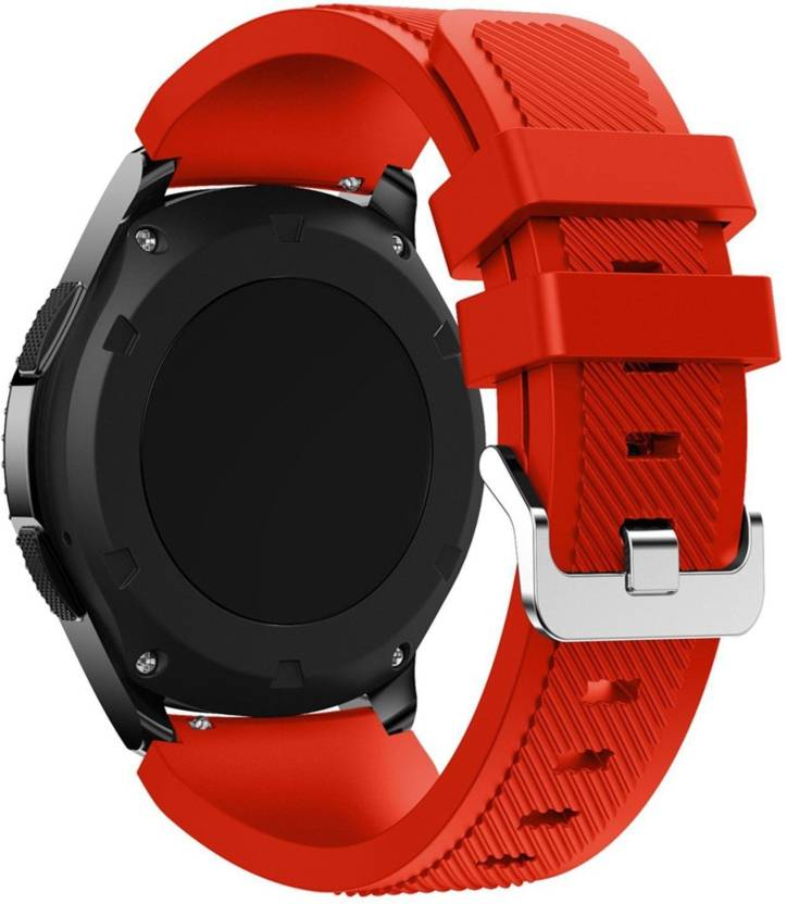 CELLFATHER Sports Silicone Classic Bracelet Watch Band for Samsung Gear S3  Frontier / S3 Classic Band 22mm( Watch Not Including ) Spicy Orange Smart