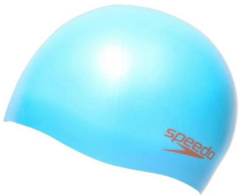 Speedo PLAIN MOULDED SILICONE CAP JUNIOR - JAPAN BLUE   LAVA RED Swimming  Cap bf09c0c8f01c0