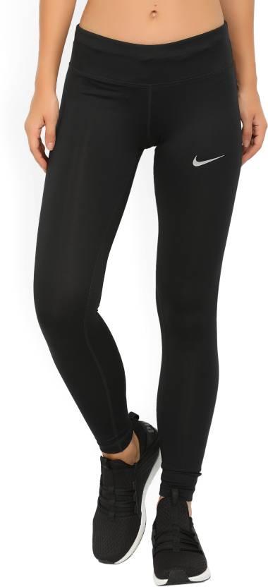 9dd0226ec Nike Solid Women s Black Tights - Buy Black Nike Solid Women s Black ...