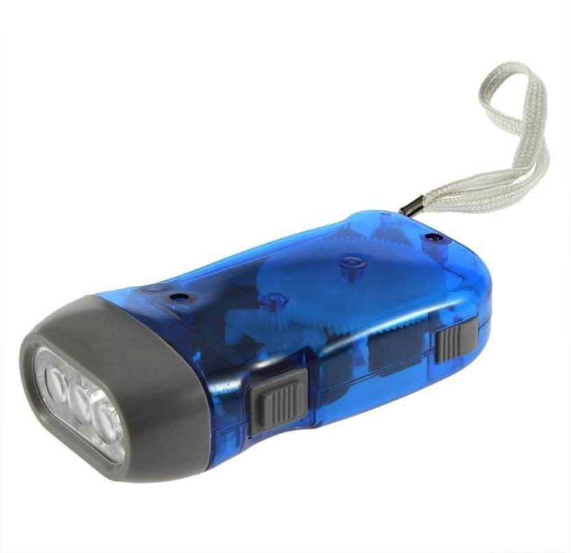 Rechargeable LED Emergency Flashlight 3 LED Dynamo Wind Up Torch Green Hand Pressing Flashlight for Outdoor Sport Camping No Battery