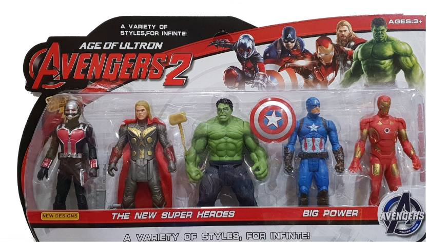 AS Avengers Infinity War Action Figure of 5 Super Heroes (Deluxe Size)