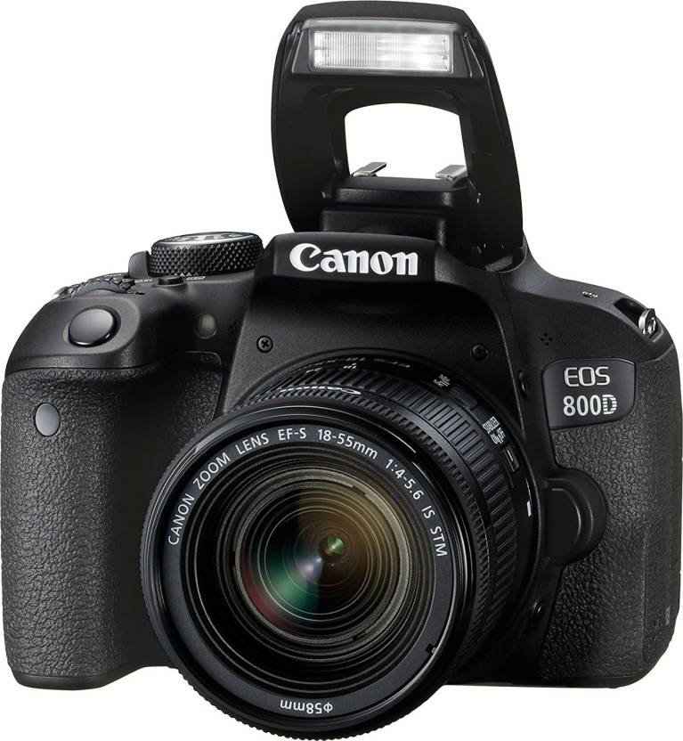Canon EOS 800D DSLR Camera EOS 800D 24 2MP Digital SLR Camera + EF-S  18-55mm IS STM Lens + 16GB Memory Card + Carrycase