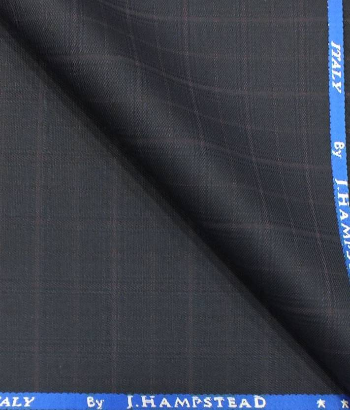 24f9c7f6e J.hampstead Cotton Polyester Blend Checkered Trouser Fabric (Un-stitched)