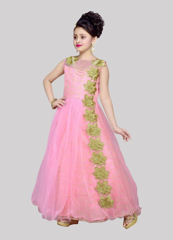 a47c246bca1 Wommaniya Impex Girls Maxi Full Length Party Dress Price in India ...