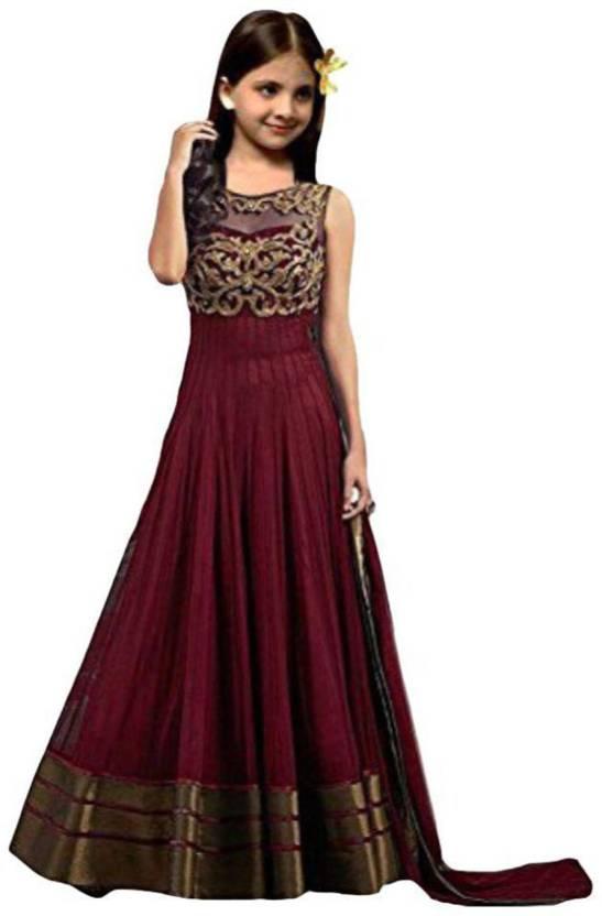 5e43d722449 MF Retail Girls Maxi Full Length Casual Dress (Brown