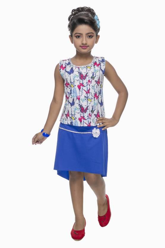 cf4e91770 Zadmus Girls Midi Knee Length Party Dress Price in India - Buy ...
