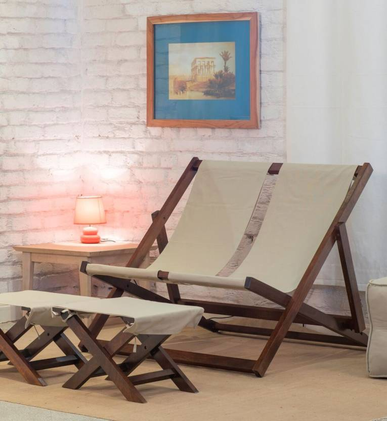 The Jaipur Living Deck Mango Solid Wood Living Room Chair