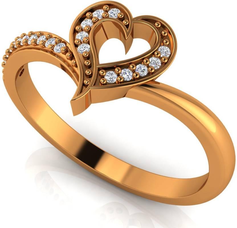 Vannajewels Valentine Gift Jewelry 18kt Diamond Yellow Gold Ring