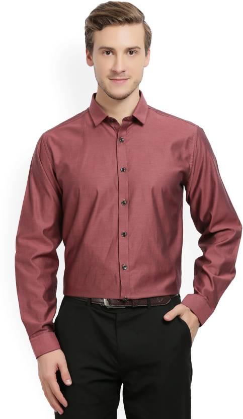 697ba4974f5 V Dot By Van Heusen Men Solid Formal Cut Away Shirt - Buy red V Dot By Van  Heusen Men Solid Formal Cut Away Shirt Online at Best Prices in India ...