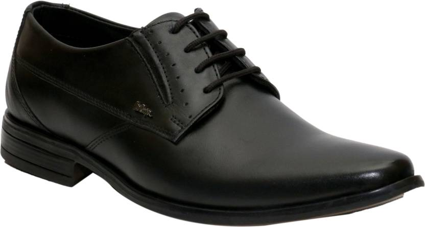 Lee Cooper Men Genuine Leather Lace Up Shoes For Men  (Black)