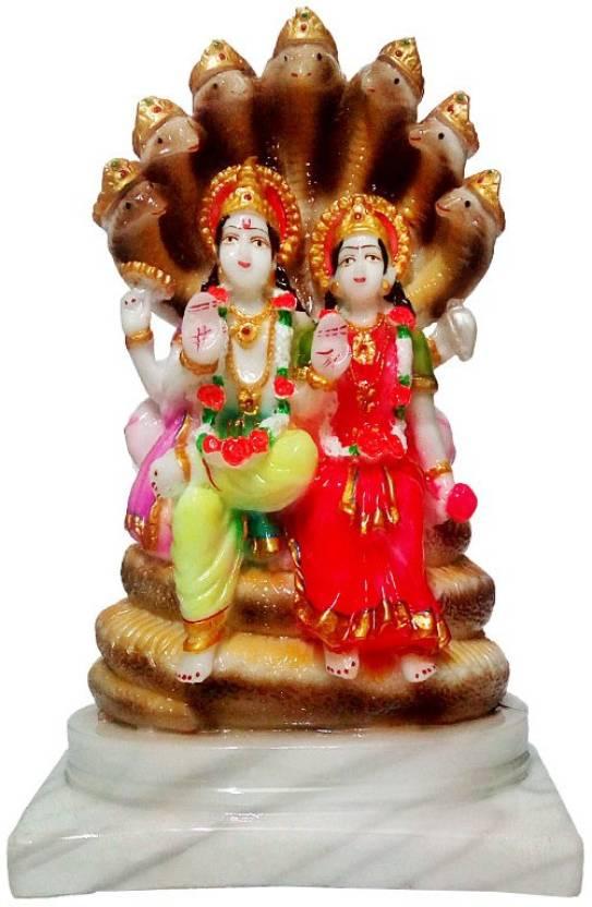 Fabzone Marble Look Lord Vishnu God Venkateshwara Idol Handicraft